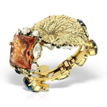 Bratara filigran hand made antichizata placata cu aur de 24k cu efect 3D BCC9370 3