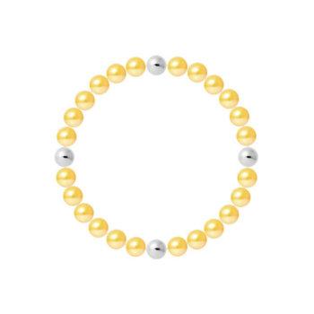 Bratara hand made elastica din perle veritabile de apa dulce si argint 925 BRACZR674BOGO 4