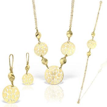 Set bijuterii din aur 18k Fortuna 22