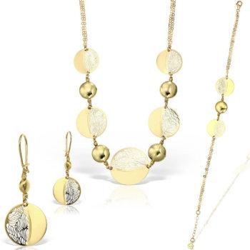 Set bijuterii din aur 18k Iris 15