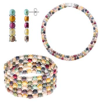 Set bijuterii hand made din perle veritabile de apa dulce Jaqueline 5
