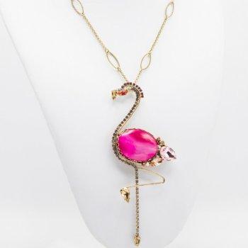 Set bijuterii hand made antichizate placate cu aur de 24K Flamingo 29
