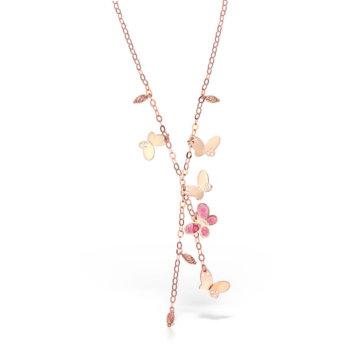 Colier model fluture din aur roz de 18K GR5480PINK 26