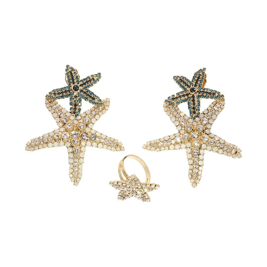 Set bijuterii hand made antichizate placate cu aur de 24K Star