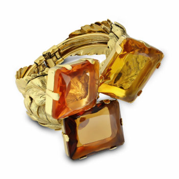 Set bijuterii hand made antichizate placate cu aur de 24K Crystal 1