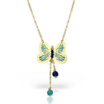 Colier model fluture din aur galben 14K GR5888GOLD 19