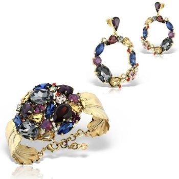 Set bijuterii hand made antichizate placate cu aur de 24K Rocha 4