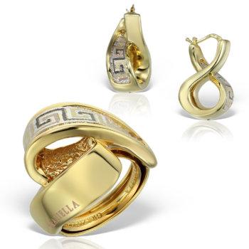 Set bijuterii din aur 14K Doris 8