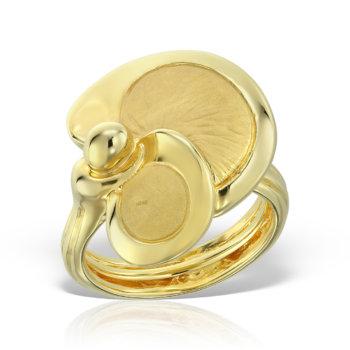 Inel din aur galben de 14K RLXN02 15