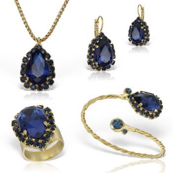 Set bijuterii hand made antichizate placate cu aur de 24K Glamy II 5