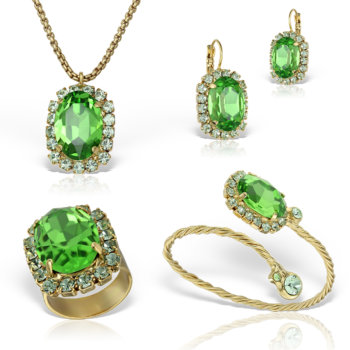 Set bijuterii hand made antichizate placate cu aur de 24K Glamy I 32