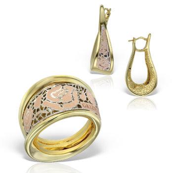 Set bijuterii din aur 14k Ariadna 9