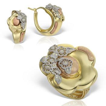 Set bijuterii din aur 14k Eva 20
