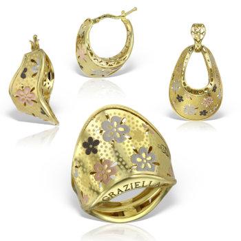 Set bijuterii din aur 14k Medeea 7