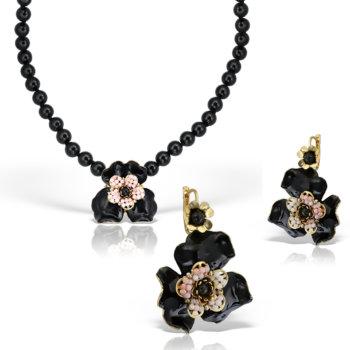 Set bijuterii handmade antichizate accesorizate cu pietre naturale Fantasia III 2