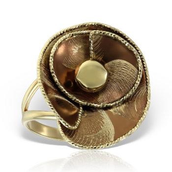 Inel din aur galben 14K RLXN44 5