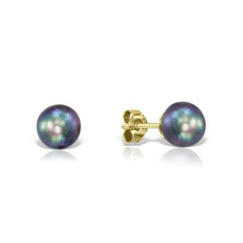 Cercei din aur galben 14K si perle naturale UB7 21