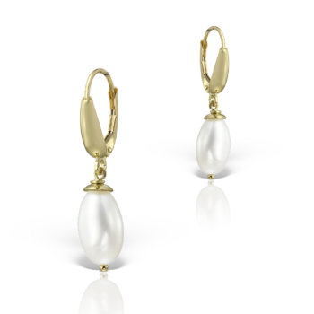 Cercei aur galben 14k si perle naturale UB10 10