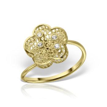 Inel model floare aur 14K AN231 10
