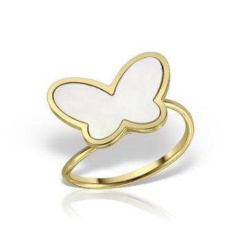 Inel model fluture aur galben 14K AN1000GWH 7