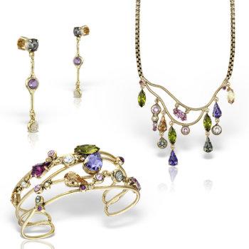 Set bijuterii hand made antichizate placate cu aur de 24K Diva 19