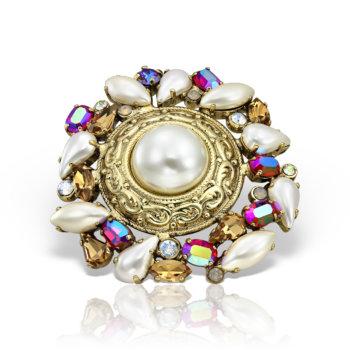 Inel handmade antichizat placat cu aur de 24K AN20000 3