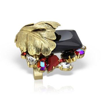 Inel handmade antichizat placat cu aur de 24K AN20005 26