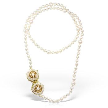 Colier antichizat accesorizat cu perle naturale CL270 23