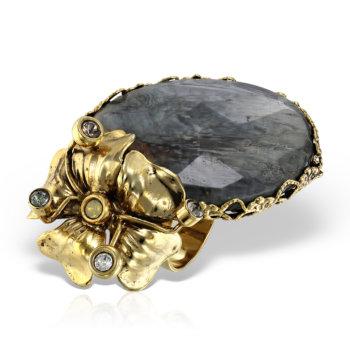 Inel handmade antichizat placat cu aur de 24K RCC2867 14