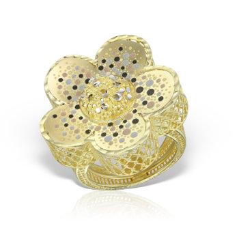 Inel din aur galben 14K RLXN24 3