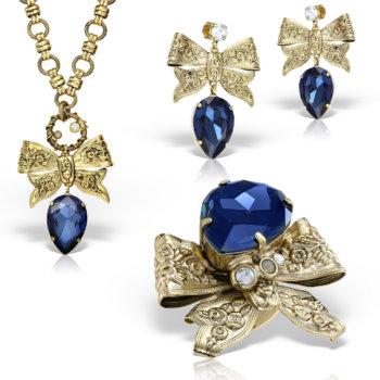 Set bijuterii handmade antichizate placate cu aur 24K Adorned 8